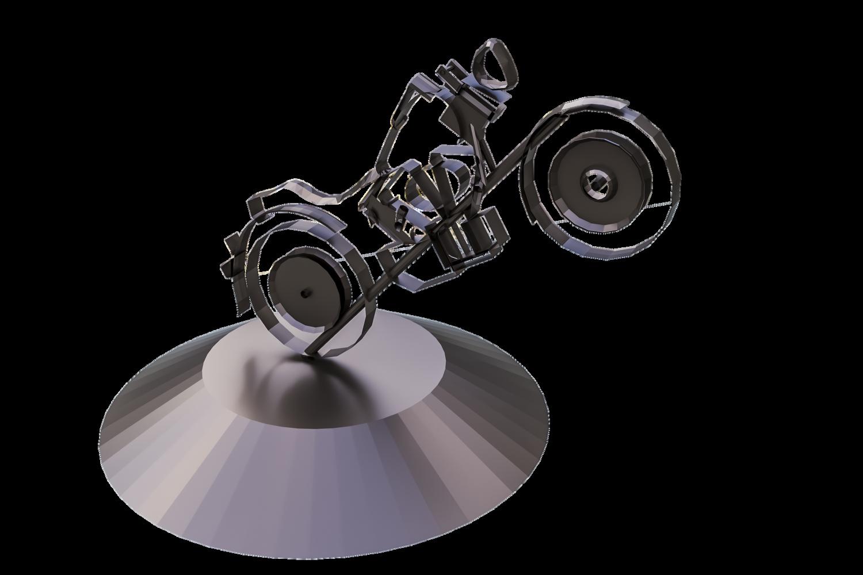 арт-объект мотоцикл